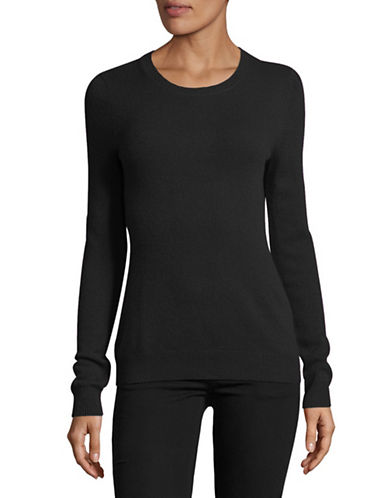 Lord & Taylor Petite Cashmere Crew Neck Sweater-CHARCOAL HEATHER-Petite X-Small