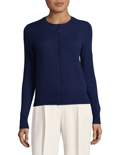 Lord & Taylor Petite Cashmere Cardigan-NAVY NIGHT-Petite Small