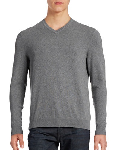 Hudson North Jersey V-Neck Sweatshirt-GREY-Small 88417905_GREY_Small