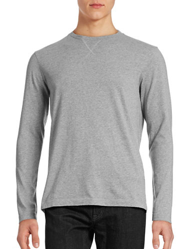 Hudson North Brushed Jersey Long Sleeve T-Shirt-DARK GREY HEATHER-X-Large 88438034_DARK GREY HEATHER_X-Large