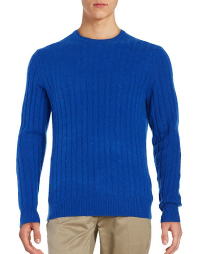 Black Brown 1826 Cashmere Cable-Knit Sweater-CHINA BLUE-Large 88620802_CHINA BLUE_Large