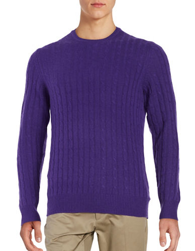 Black Brown 1826 Cashmere Cable-Knit Sweater-GRAPE-X-Large 88620797_GRAPE_X-Large
