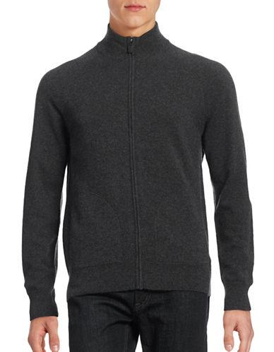 Black Brown 1826 Cashmere Full Zip Sweater-COAL GREY-Small 88687108_COAL GREY_Small