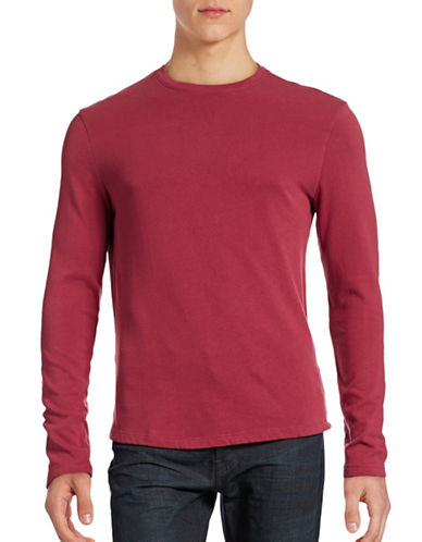 Hudson North Crew Neck Terry-Lined Sweatshirt-RED-Large 88558558_RED_Large