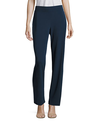 H Halston Piped Soft Pants-BLUE-X-Large 88967912_BLUE_X-Large