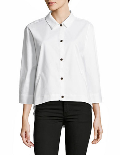 H Halston Cropped Swing Jacket-WHITE-Medium 88967884_WHITE_Medium