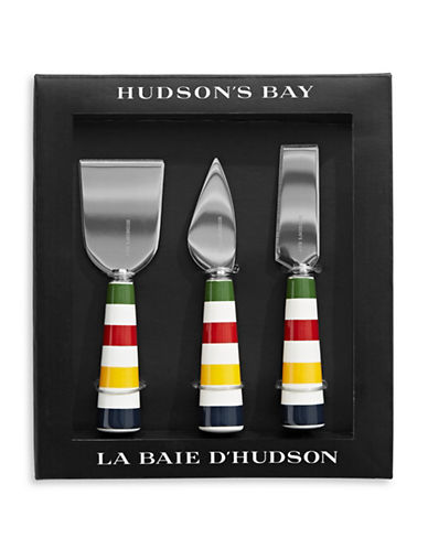 HudsonS Bay Company Three-Piece Stainless Steel Cheese Knives Set-MULTI-One Size