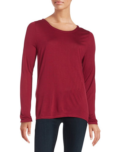 Highline Collective Knit Cold-Shoulder Top-RED-Medium 88413993_RED_Medium