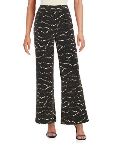 H Halston Wide-Leg Pants-BLACK/IVORY-6 plus size,  plus size fashion plus size appare