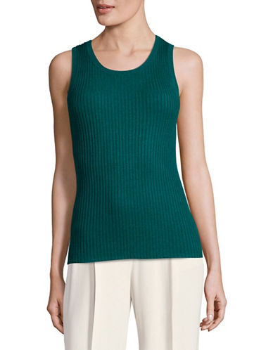Lord & Taylor Satellite Basic Sleeveless Ribbed Tank Top-SATELLITE-Large
