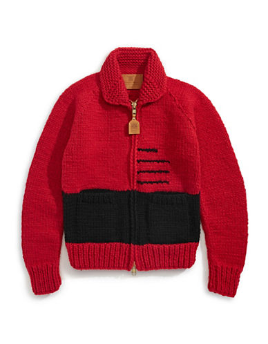 HudsonS Bay Company Hand Knit Sweater - Women-SCARLET-Medium