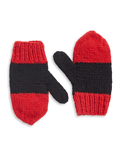 HudsonS Bay Company Hand Knit Wool Mittens-SCARLET-Small/Medium