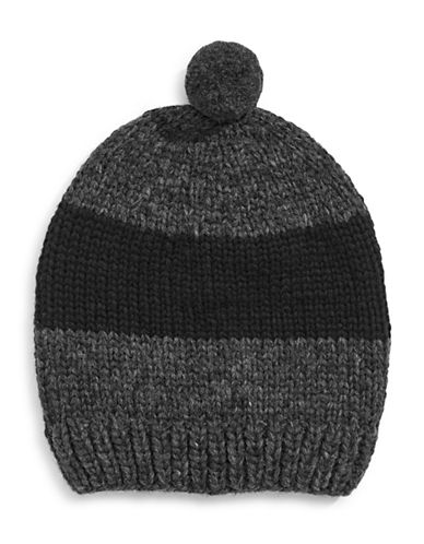 HudsonS Bay Company Hand Knit Wool Toque-CHARCOAL-One Size