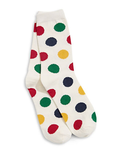 HudsonS Bay Company Multi-Dot Socks-MULTI-One Size