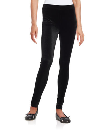 Lord & Taylor Seamed Velvet Leggings-BLACK-X-Small 88484487_BLACK_X-Small