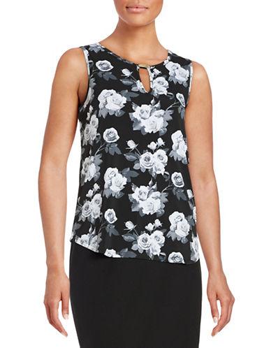 Imnyc Isaac Mizrahi Keyhole Knit Tank Top-BLACK-X-Large 88418703_BLACK_X-Large
