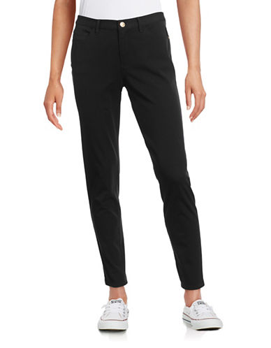 Imnyc Isaac Mizrahi Skinny Twill Pants-BLACK-X-Large 88467245_BLACK_X-Large