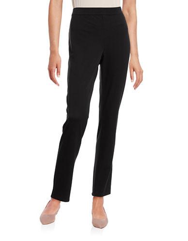 H Halston Stretch Twill Pull-On Pants-BLACK-X-Small 88469363_BLACK_X-Small