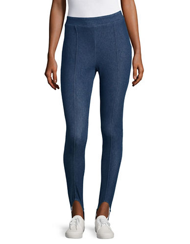 Highline Collective Denim Stirrup Leggings-BLUE FADE-X-Small