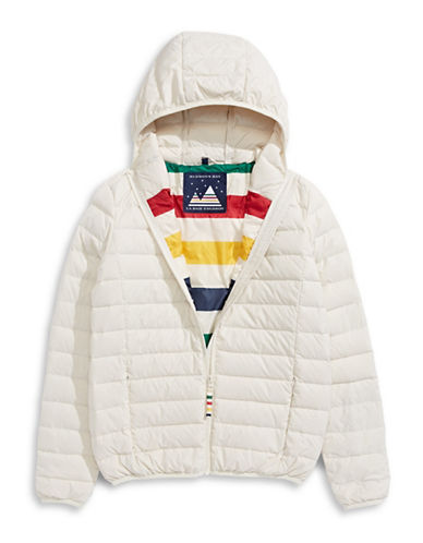 HudsonS Bay Company Packable Down Jacket - Bomber - Women-IVORY-Small