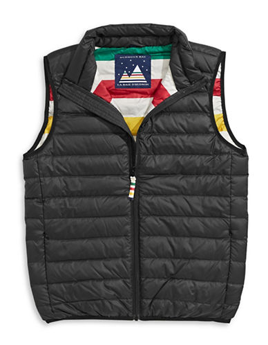HudsonS Bay Company Packable Down Vest - Men-BLACK-Large