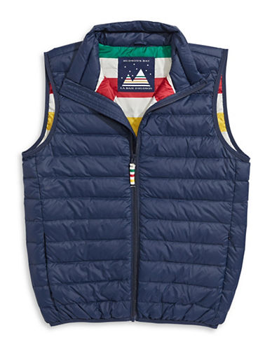 HudsonS Bay Company Packable Down Vest - Men-NAVY-Small