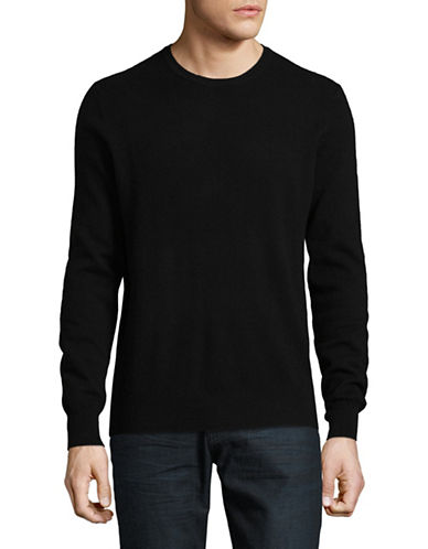 Black Brown 1826 Cashmere Crew Neck Sweater-BLACK-X-Large