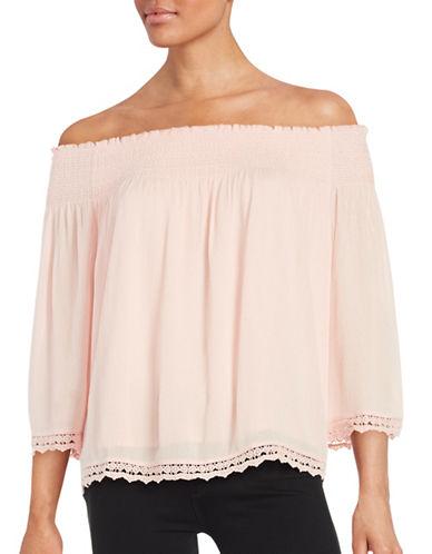 Highline Collective Knit Off-the-Shoulder Top-PINK-Large 88512857_PINK_Large