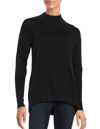 H Halston Mock neck Sweater-BLACK-Medium 88534989_BLACK_Medium
