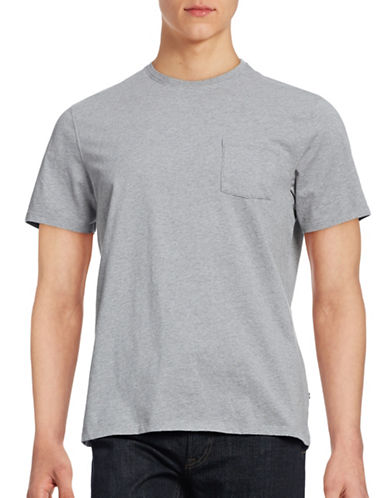 Black Brown 1826 Cotton T-Shirt-GREY-Small