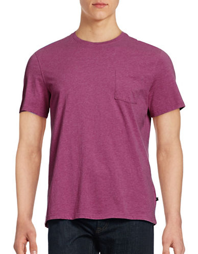 Black Brown 1826 Cotton T-Shirt-PURPLE-Medium