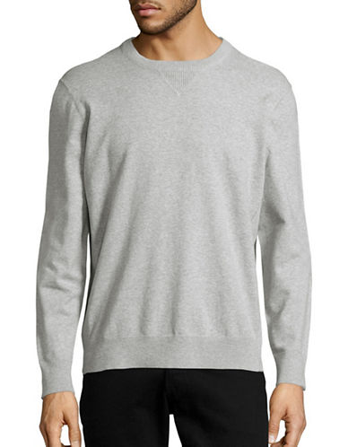 Black Brown 1826 V-Inset Crew Neck Sweatshirt-GREY-Medium 88687301_GREY_Medium