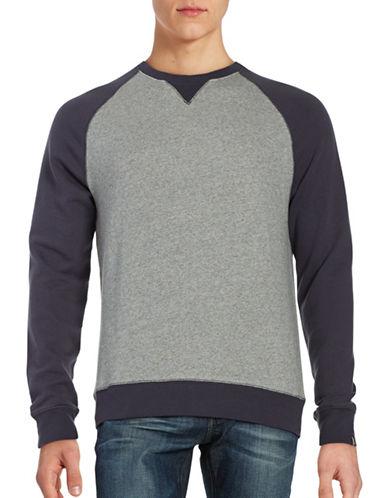 Black Brown 1826 Colourblock Crew Neck Sweatshirt-BLUE-Small 88762294_BLUE_Small
