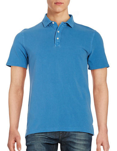 Black Brown 1826 Textured Cotton Polo-BLUE-XX-Large