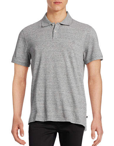 Black Brown 1826 Short Sleeve Solid Pique Core Polo-GREY-Medium