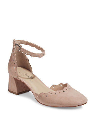 424 Fifth Brandi Embellished Suede Heels-WALNUT-7
