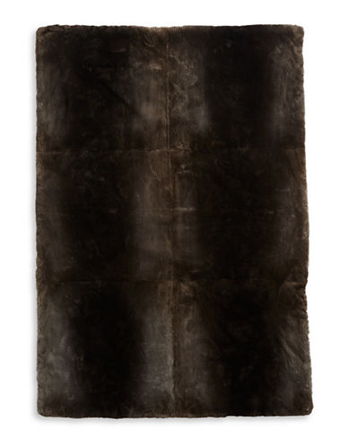 HudsonS Bay Company Sheared Beaver Throw Blanket-MILLENNIUM-One Size