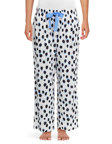 Lord & Taylor Printed Woven Sleep Pants-LIGHT BLUE-One Size