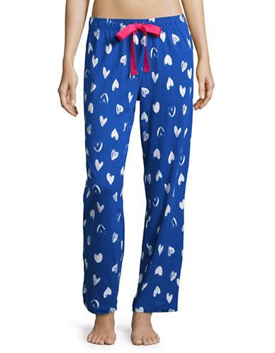 Lord & Taylor Printed Sleep Pants-GEMINI BLUE-Medium