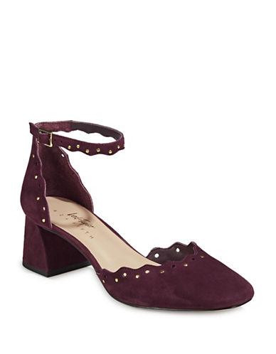 424 Fifth Brandi Embellished Suede Heels-SANGRIA-9.5
