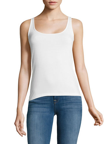 Lord & Taylor Petite Iconic Fit Tank-WHITE-Petite Large