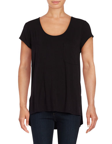 Lord & Taylor Solid Pocket Tee-BLACK-X-Large 88795705_BLACK_X-Large