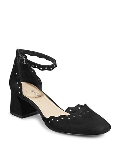 424 Fifth Brandi Embellished Suede Heels-BLACK-7.5