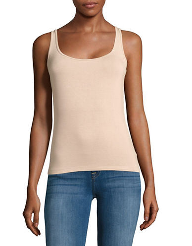 Lord & Taylor Petite Iconic Fit Tank-BEIGE-Petite Large
