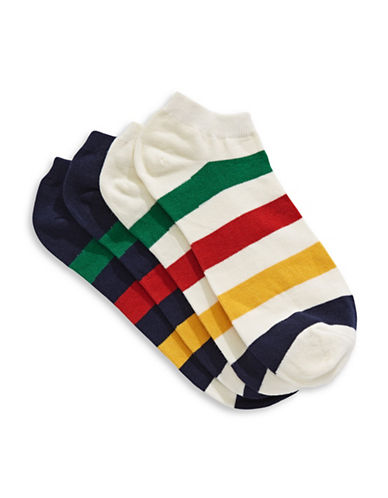 HudsonS Bay Company Mens Two-Pack One Size Ankle Socks-MULTI-10-13