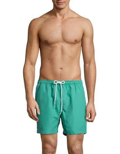 Black Brown 1826 Volleyball Beach Shorts-GREEN-X-Large