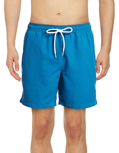 Black Brown 1826 Volleyball Beach Shorts-SAPPHIRE-Small