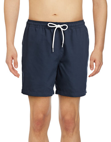 Black Brown 1826 Volleyball Beach Shorts-INDIGO-Small