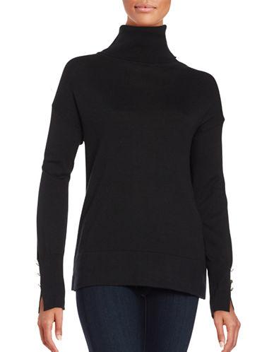 Imnyc Isaac Mizrahi Turtleneck Pullover-BLACK-X-Large 88760985_BLACK_X-Large