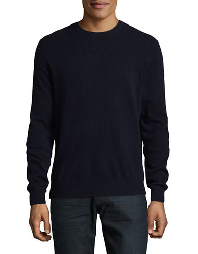 Black Brown 1826 Cashmere Crew Neck Sweater-NAVY-Medium